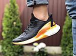 Мужские кроссовки Adidas Alphaboost (черно-оранжевые) 9376, фото 4