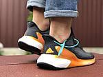 Мужские кроссовки Adidas Alphaboost (черно-оранжевые) 9376, фото 5