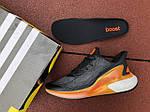 Мужские кроссовки Adidas Alphaboost (черно-оранжевые) 9376, фото 6