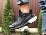 Мужские кроссовки Adidas Alphaboost (черно-белые) 9378, фото 2