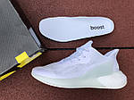 Чоловічі кросівки Adidas Alphaboost (білі) 9379, фото 5