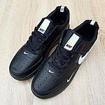 Мужские кроссовки Nike Air Force LV8 (черные) 10166, фото 7