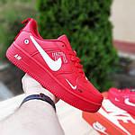 Мужские кроссовки Nike Air Force LV8 (красные) 10167, фото 2