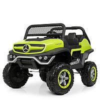 Детский электромобиль Джип «Mercedes Benz» M 4133EBLR-5 (4WD полный привод) Зеленый