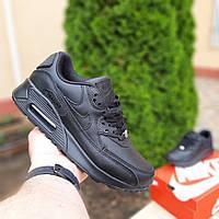 Женские кроссовки Nike Air Max 90 (черные) 20117