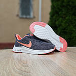 Женские кроссовки Nike ZOOM X (серо-розовые) 20120, фото 3