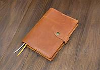 Обложка для ежедневника формата А5 Модель №13, Винтажная кожа, цвет Коньяк