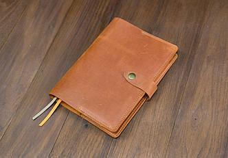 Обложка для ежедневника формата А5 Модель № 13, Винтажная кожа, цвет Коньяк