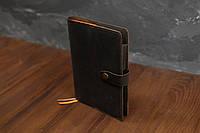 Обложка для ежедневника формата А5 Модель №13, Винтажная кожа, цвет Шоколад