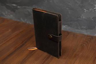 Обложка для ежедневника формата А5 Модель № 13, Винтажная кожа, цвет Шоколад