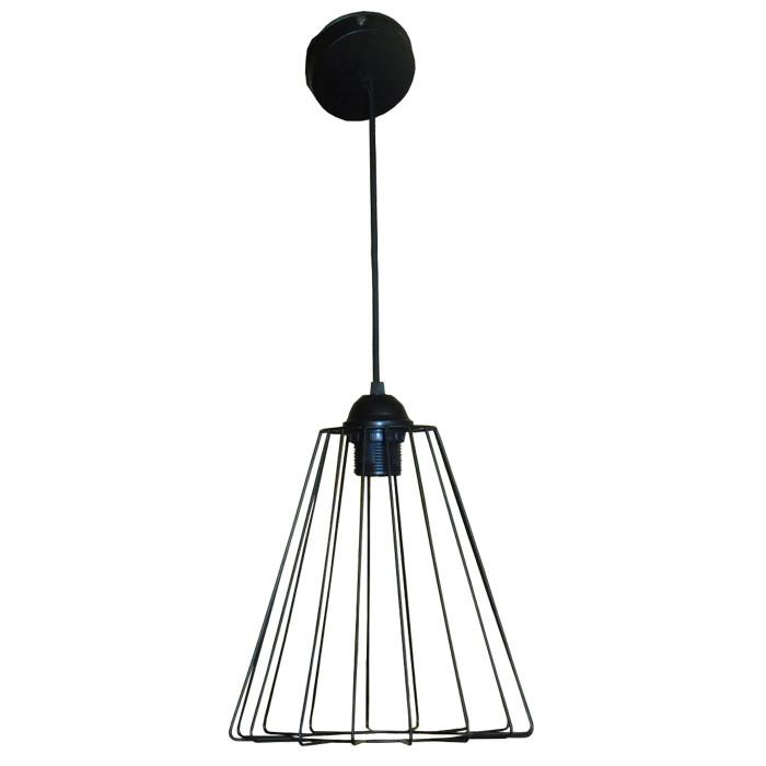 """Подвесной металлический светильник, современный стиль, loft, vintage, modern style """"RUFF"""" Е27 черный цвет"""