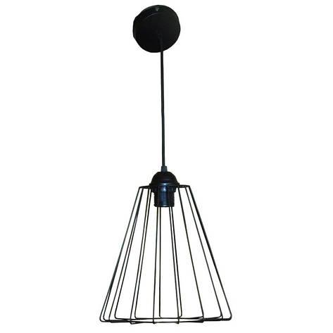 """Подвесной металлический светильник, современный стиль, loft, vintage, modern style """"RUFF"""" Е27 черный цвет, фото 2"""