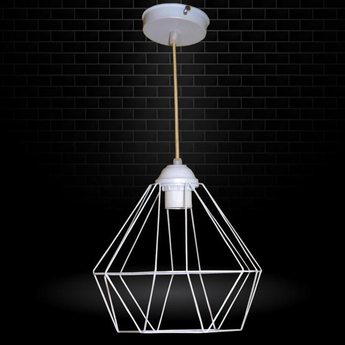 """Подвесной металлический светильник, современный стиль, loft, vintage, modern style """"CLASSIC"""" Е27 белый цвет"""