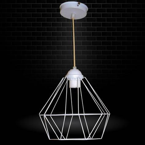 """Подвесной металлический светильник, современный стиль, loft, vintage, modern style """"CLASSIC"""" Е27 белый цвет, фото 2"""