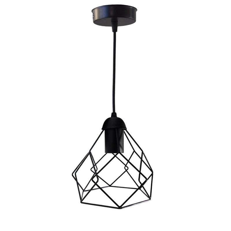 """Подвесной металлический светильник, современный стиль, loft, vintage, modern style """"RUBY"""" Е27  черный цвет"""