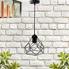 """Подвесной металлический светильник, современный стиль, loft, vintage, modern style """"RUBY"""" Е27  черный цвет, фото 3"""