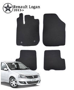 Коврики EVA в салон Renault Logan 2012-. Star-Tex.