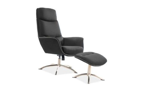 Кресло с подставкой для ног REGAN  серый (Signal)