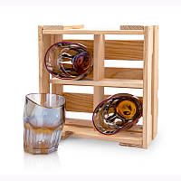 Набор пьяных стаканов для виски Rainbow (4 шт), фото 1