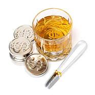Набор стальных монет для охлаждения виски Monet, фото 2