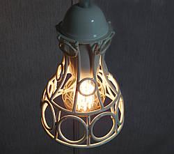 """Подвесной металлический светильник, современный стиль, loft, vintage, modern style """"RINGS-W"""" Е27  черный белый, фото 3"""
