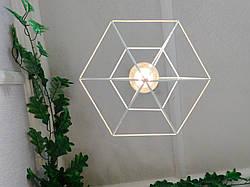 """Подвесной металлический светильник, современный стиль, loft, vintage, modern style """"CRYSTAL-W"""" Е27  белый цвет, фото 3"""