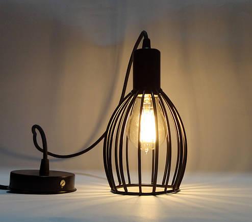 """Подвесной металлический светильник, современный стиль, loft, vintage, modern style """"CACHE"""" Е27 черный цвет, фото 2"""