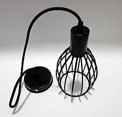"""Подвесной металлический светильник, современный стиль, loft, vintage, modern style """"CACHE"""" Е27 черный цвет, фото 3"""