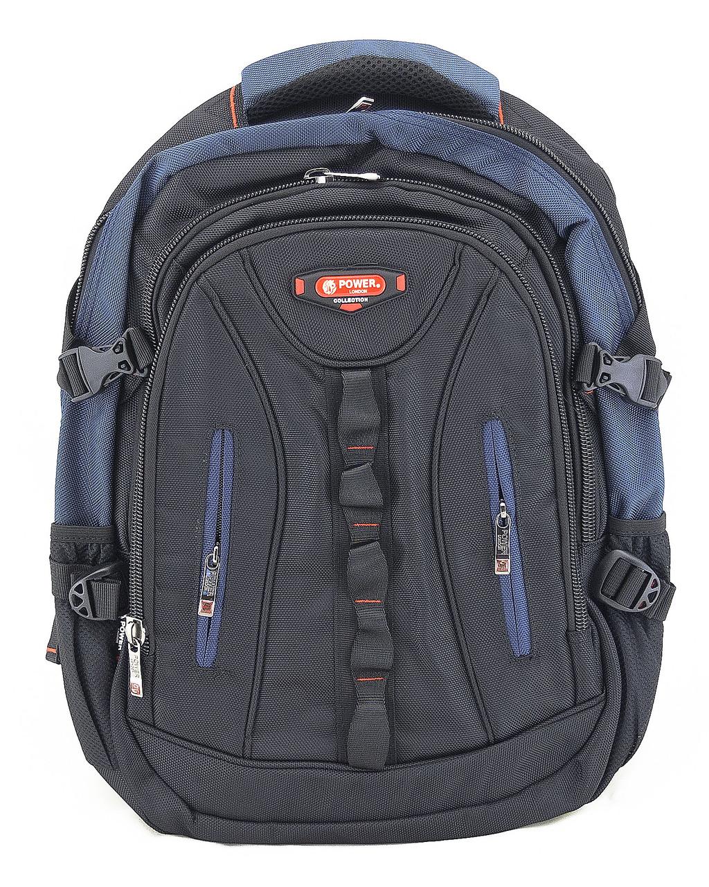 Рюкзак 4313 Power London чорний з синім