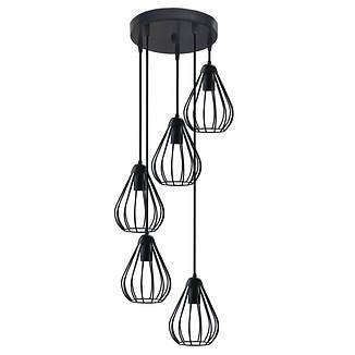 """Подвесной металлический светильник, современный стиль, loft, vintage, modern style """"KAPLY-5GB"""" Е27  черный, фото 2"""