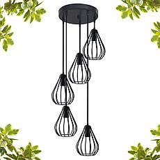 """Подвесной металлический светильник, современный стиль, loft, vintage, modern style """"KAPLY-5GB"""" Е27  черный, фото 3"""