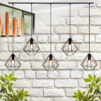 """Подвесной металлический светильник, современный стиль, loft, vintage  """"CLASSIC-5"""" Е27  черный цвет, фото 2"""