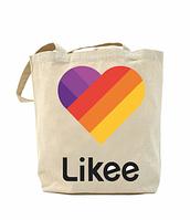 Еко-сумка, шоппер з принтом повсякденна Likee logo