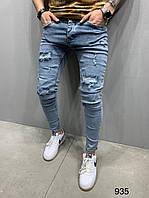 Мужские джинсы 2Y Premium 935 blue, фото 1
