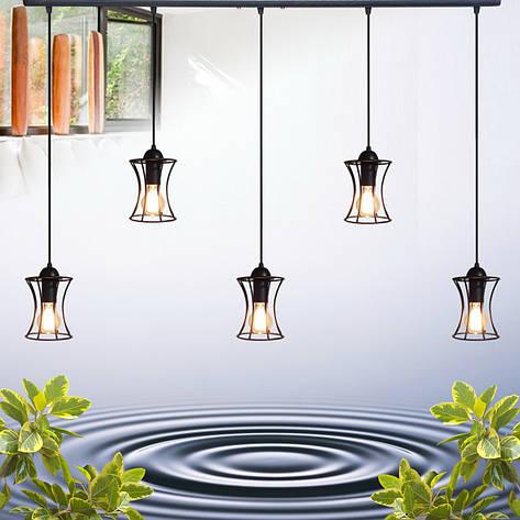"""Подвесной металлический светильник, современный стиль, loft  """"SANDBOX-5"""" Е27  черный цвет, фото 2"""