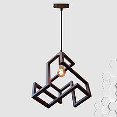 """Подвесная люстра """"LABYRINTH"""" Е27 натуральное дерево темный цвет loft освещение, фото 2"""