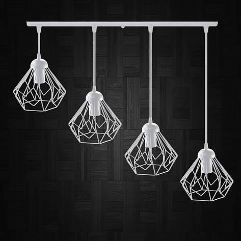 """Подвесной металлический светильник, современный стиль  """"SKRAB-4W"""" Е27  белый цвет, фото 2"""