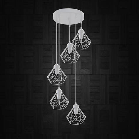 """Подвесной металлический светильник, современный стиль """"SKRAB-5GW"""" Е27  белый цвет, фото 2"""