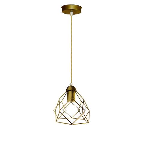 """Подвесной металлический светильник, современный стиль """"RUBY-G"""" Е27  золотой цвет, фото 2"""