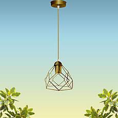 """Подвесной металлический светильник, современный стиль """"RUBY-G"""" Е27  золотой цвет, фото 3"""