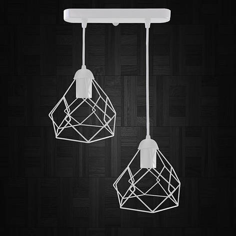 """Подвесной металлический светильник, современный стиль """"RUBY-2W"""" Е27  белый цвет, фото 2"""