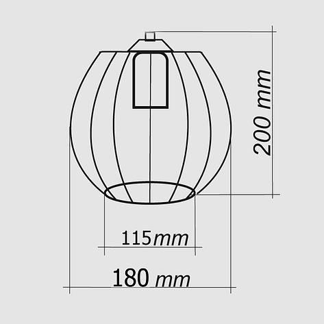 """Подвесной металлический светильник, современный стиль """"BARREL-5GB"""" Е27  черный цвет, фото 2"""