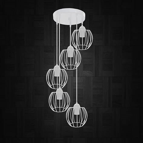"""Подвесной металлический светильник, современный стиль """"BARREL-5GW"""" Е27  белый цвет, фото 2"""