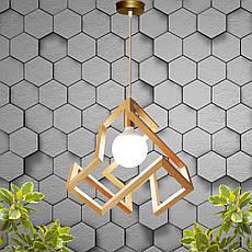 """Подвесная люстра """"LABYRINTH-NC"""" Е27 натуральное дерево /светлый цвет/ loft освещение, фото 3"""