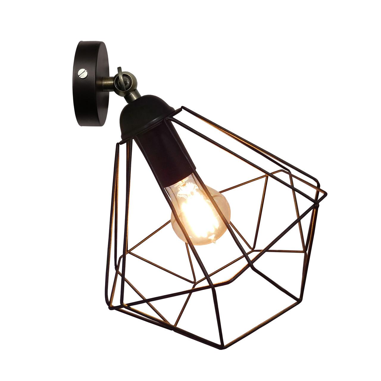 """Настенный светильник / бра лофт / потолочная лампа / на одну лампу / индустриальный стиль / """"CLASSI/LS"""" черный"""
