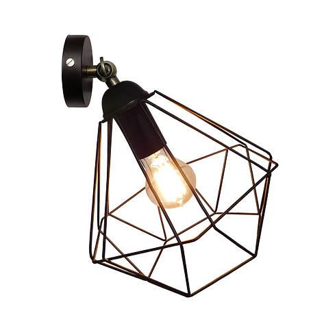 """Настенный светильник / бра лофт / потолочная лампа / на одну лампу / индустриальный стиль / """"CLASSI/LS"""" черный, фото 2"""