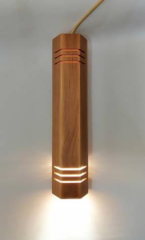 """Подвесной светильник """"MONA-5"""" Е27 натуральное дерево, светлое дерево, лофт освещение, фото 2"""