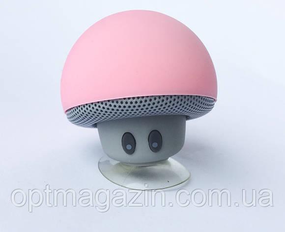 Міні-колонка Гриб 3Вт Bluetooth 4.1 з мікрофоном на присоску Чорний, фото 2
