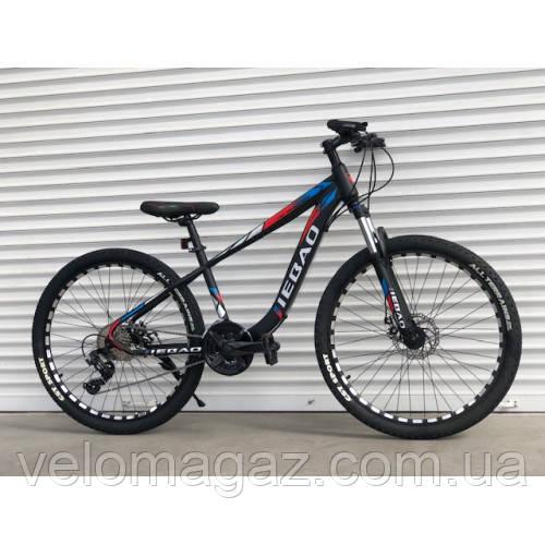"""Велосипед гірський TopRider-006, 27 швидкостей, колеса 26"""", синьо-червоний"""