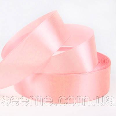 Лента атласная 25 мм, цвет нежно-розовый